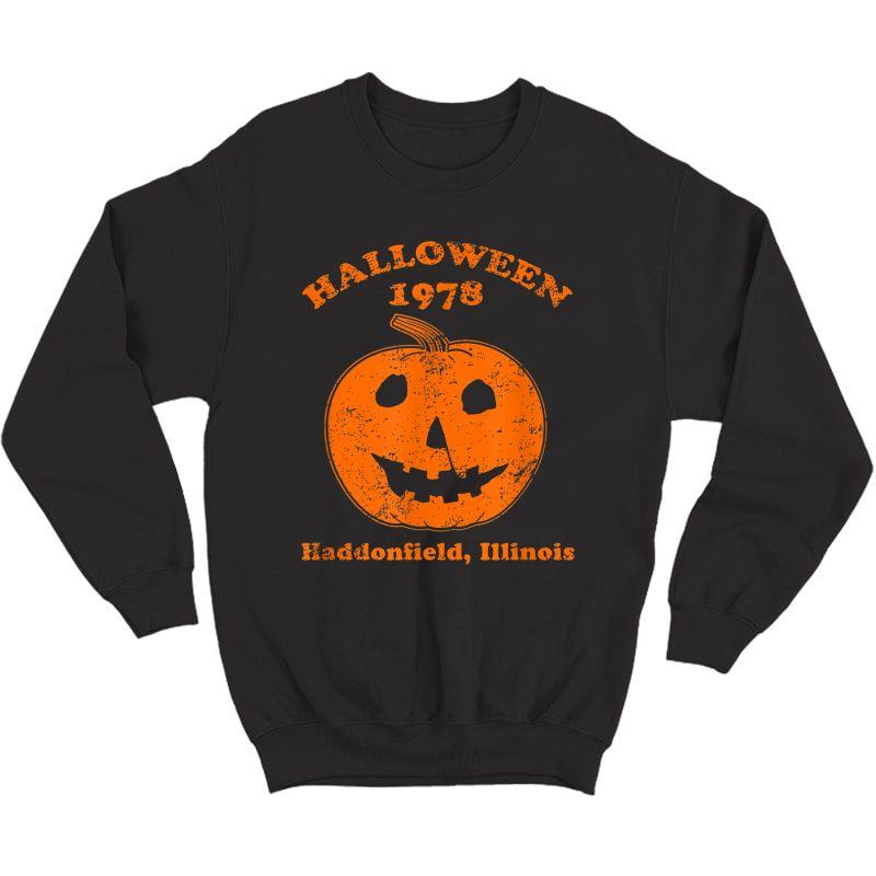 Halloween 1978 Holiday Spooky Gift Myers Pumpkin Haddonfield T-shirt Crewneck Sweater