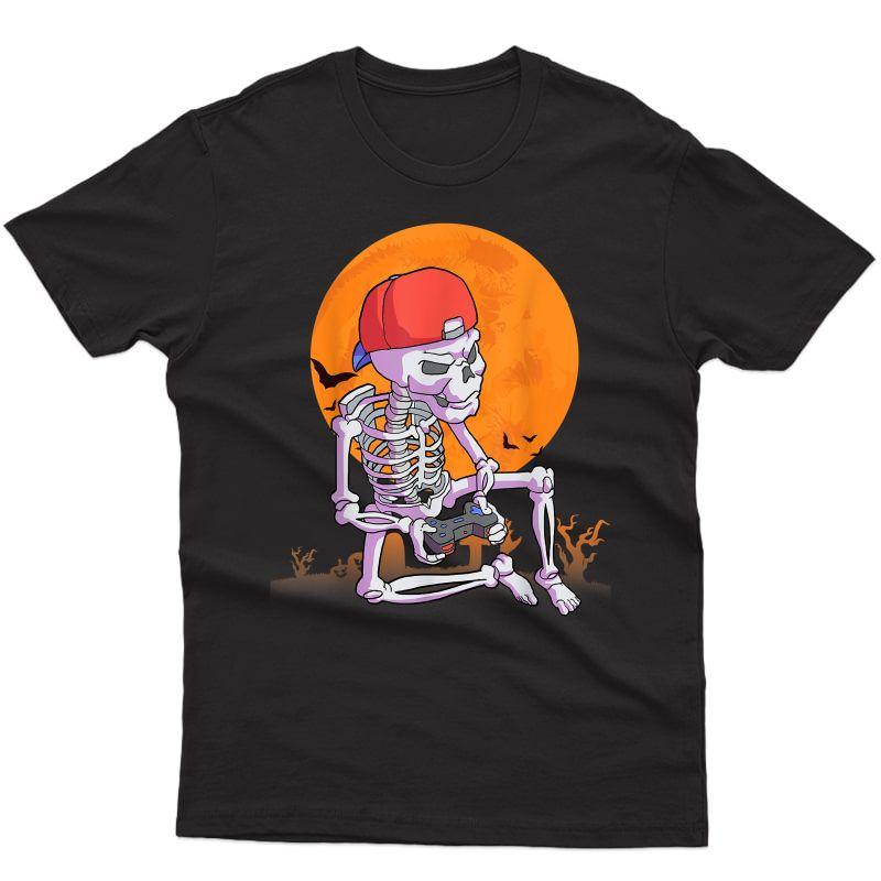 Halloween Shirt Gamer Gift Skeleton Shirt For T-shirt