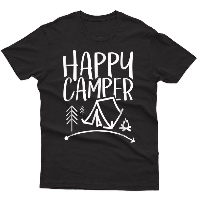 Happy Camper - Camping T-shirt For , , And