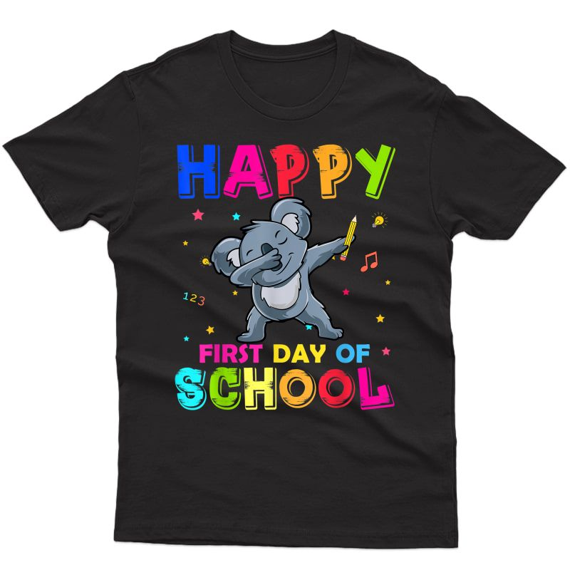 Happy First Day Of School Dabbing Koala Back To School T-shirt