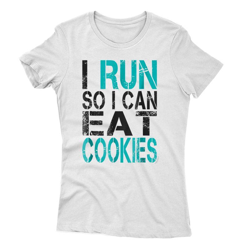 I Run So I Can Eat Cookies T-shirt. Funny Running Shirt