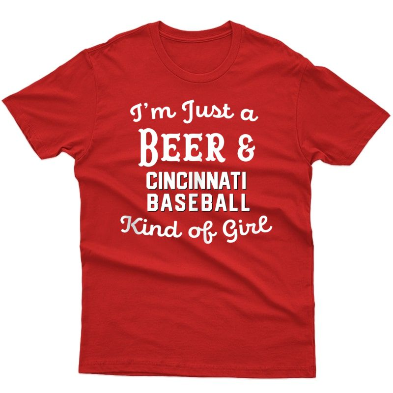 Just A Beer And Cincinnati Baseball Kind Of Girl Cute Tank Top Shirts