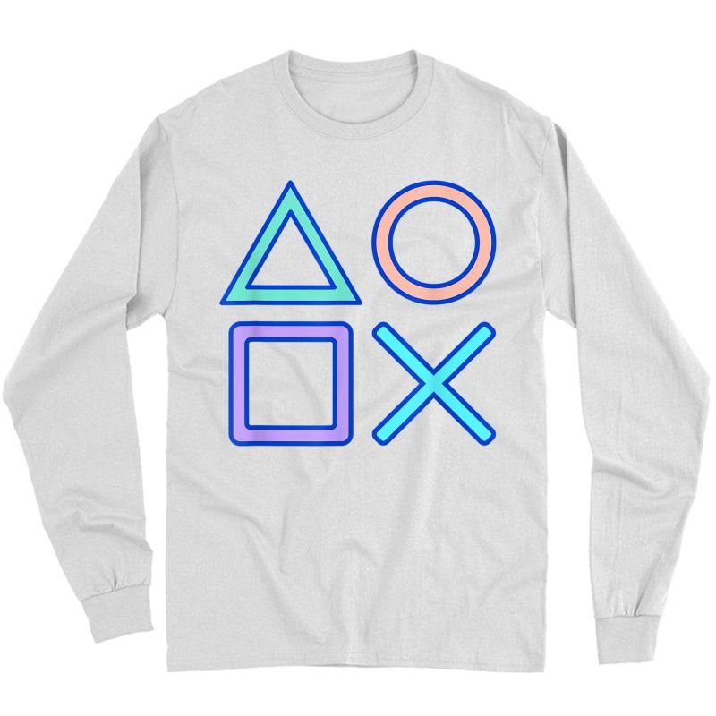 Kawaii Pastel Gamer T-shirt Long Sleeve T-shirt