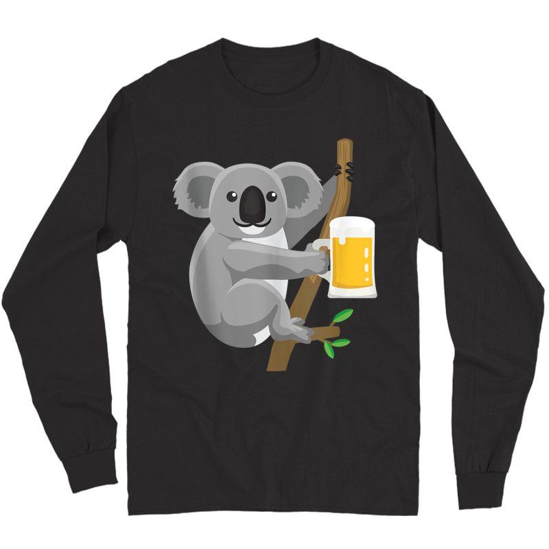 Koala Beer Drinking Tank Top Shirts Long Sleeve T-shirt