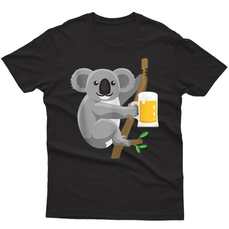 Koala Beer Drinking Tank Top Shirts