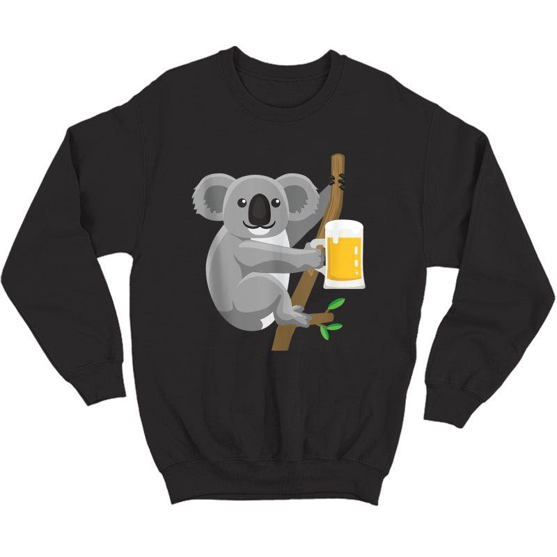 Koala Beer Drinking Tank Top Shirts Crewneck Sweater