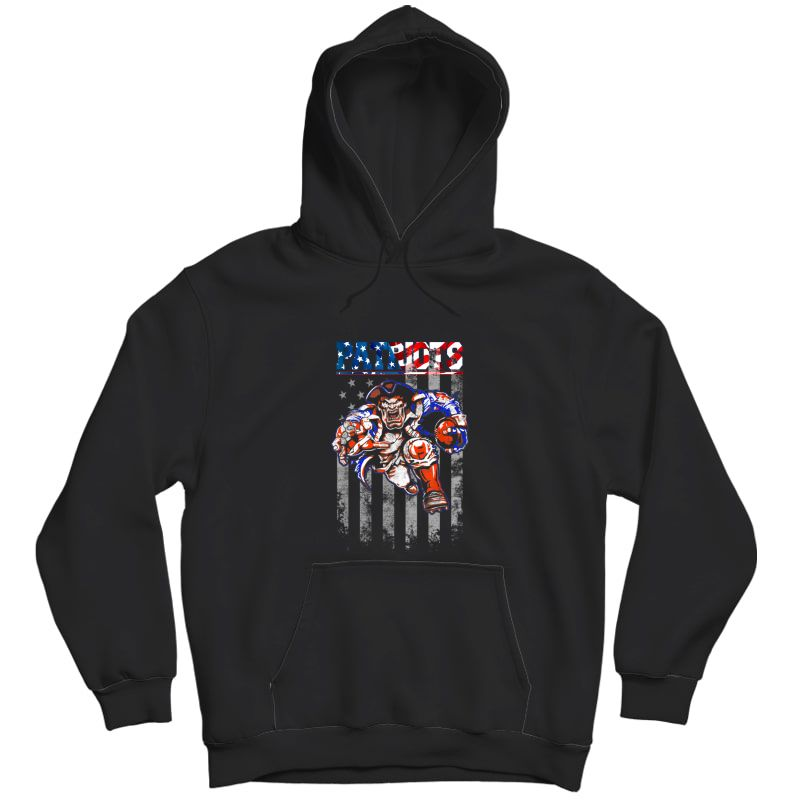Loves Football-new England Fans Patriot Football Shirt Flag Unisex Pullover Hoodie