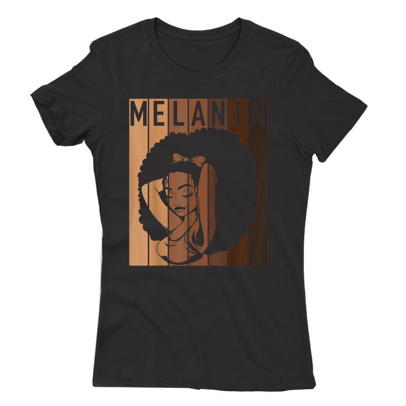 Melanin Tee Afro Woman Christmas Gift For Mom Wife Daughter T-shirt
