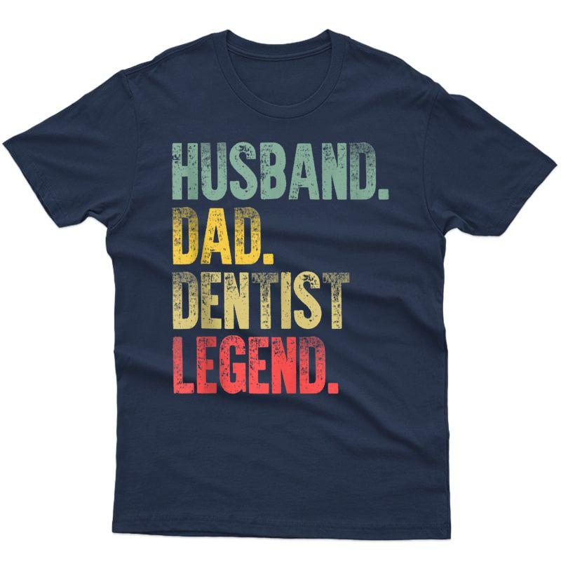 S Funny Vintage Shirt Husband Dad Dentist Legend Retro Tank Top
