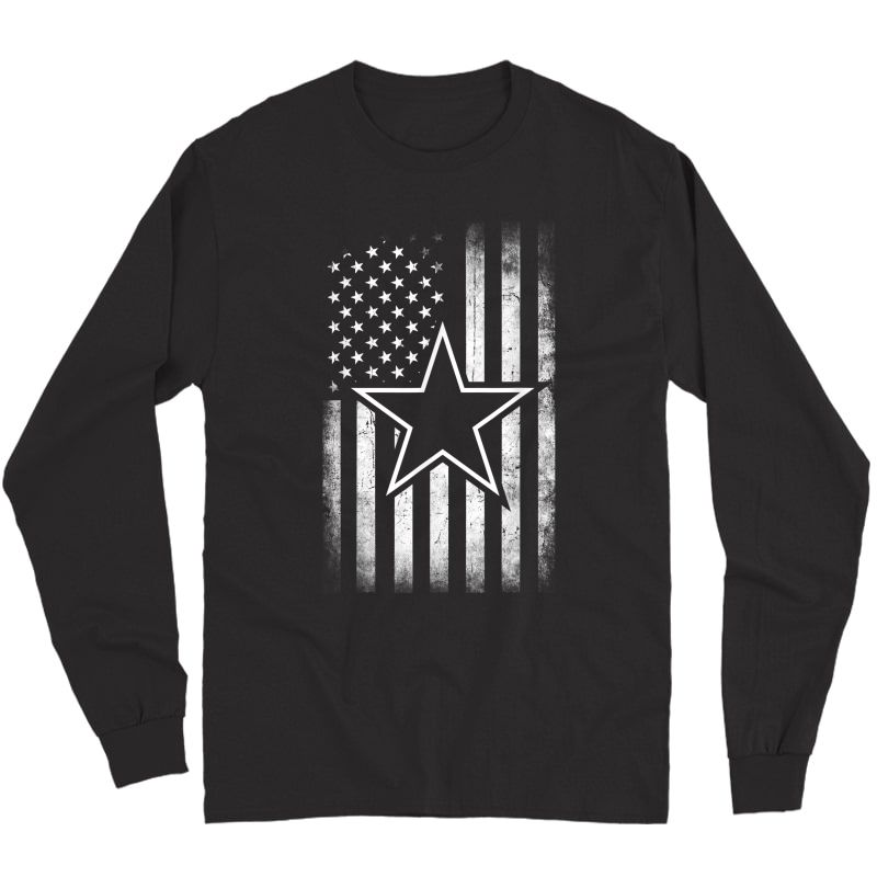 S Gift Cowboy Flag Football Dallas Fans T-shirt Long Sleeve T-shirt