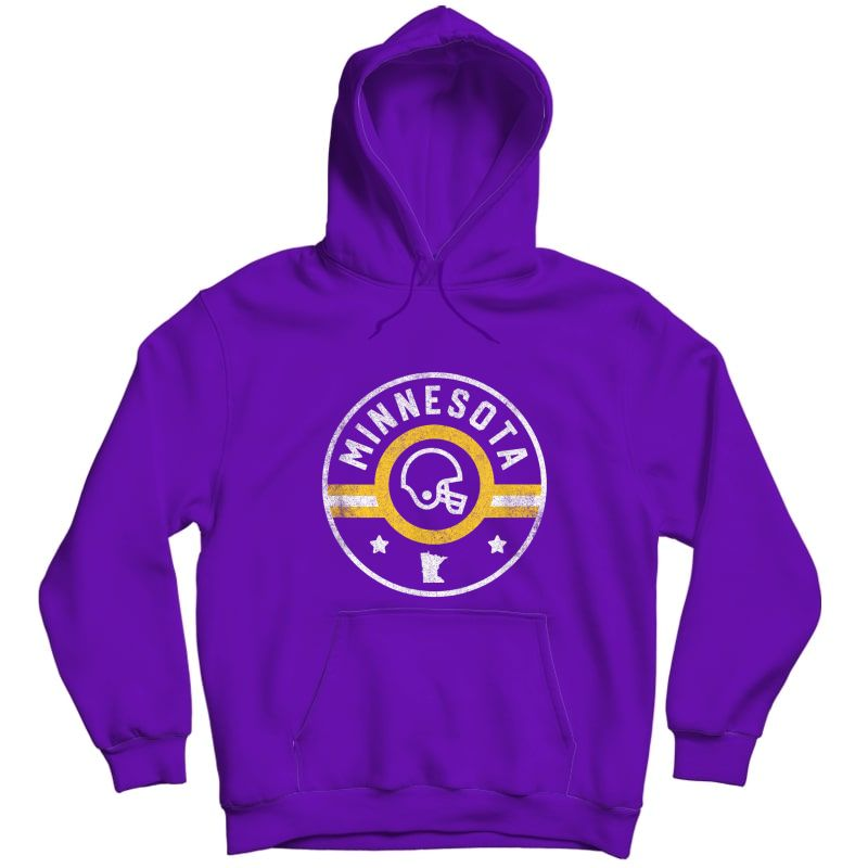 Minnesota Football Stars And Stripes Mn Outline T-shirt Unisex Pullover Hoodie
