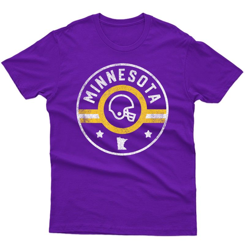 Minnesota Football Stars And Stripes Mn Outline T-shirt