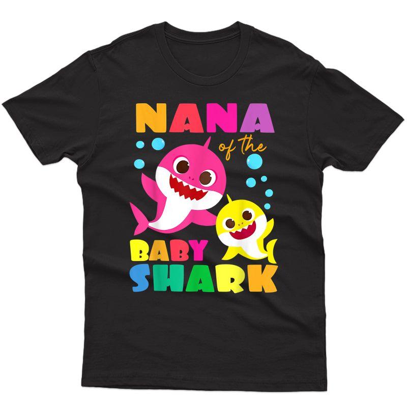 Nana Of The Baby Shark Birthday Nana Shark T-shirt Copy T-shirt
