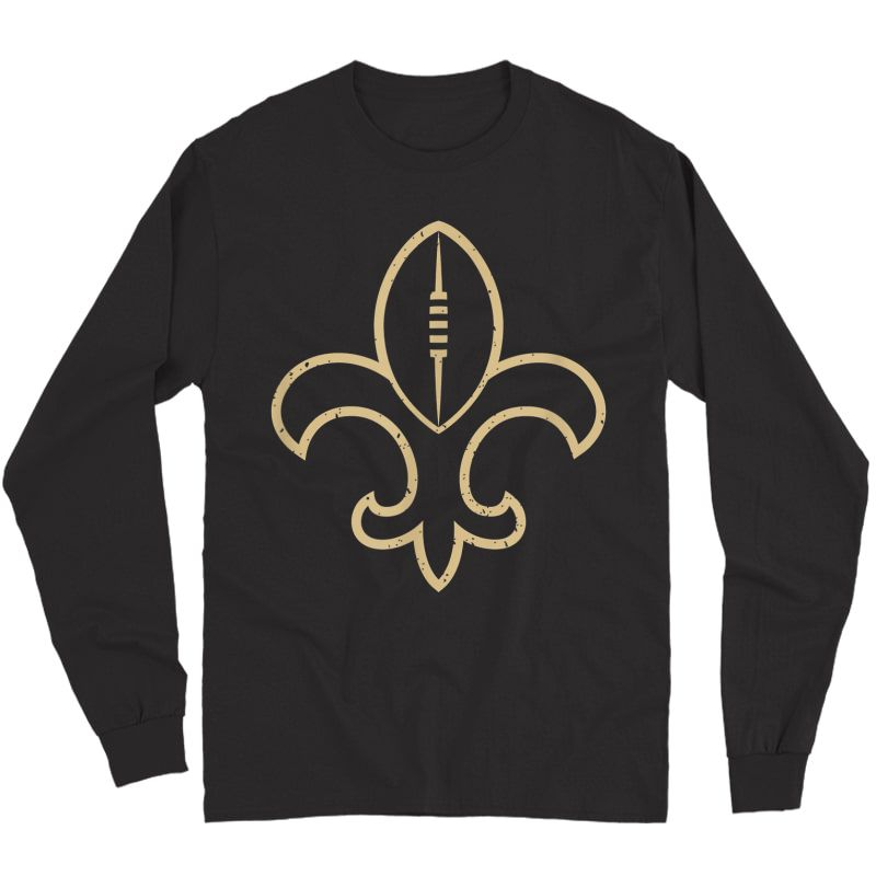 New Orleans Football Vintage Louisiana Nola Saint Retro T-shirt Long Sleeve T-shirt