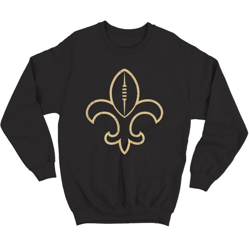 New Orleans Football Vintage Louisiana Nola Saint Retro T-shirt Crewneck Sweater
