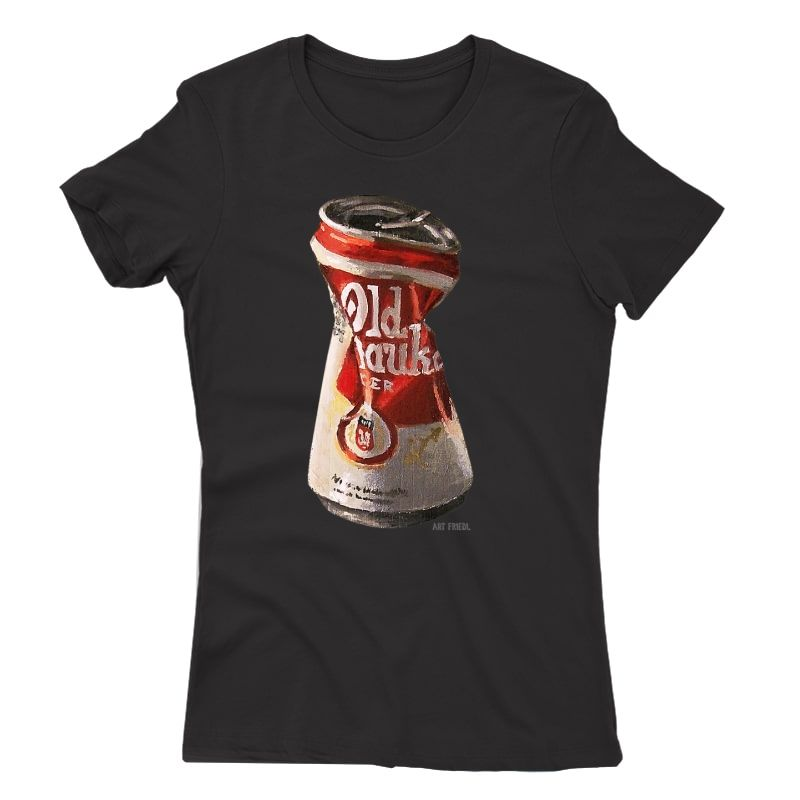 Old Crushed Beer Can Milwaukee T-shirt