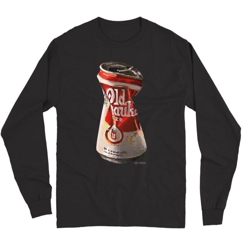 Old Crushed Beer Can Milwaukee T-shirt Long Sleeve T-shirt