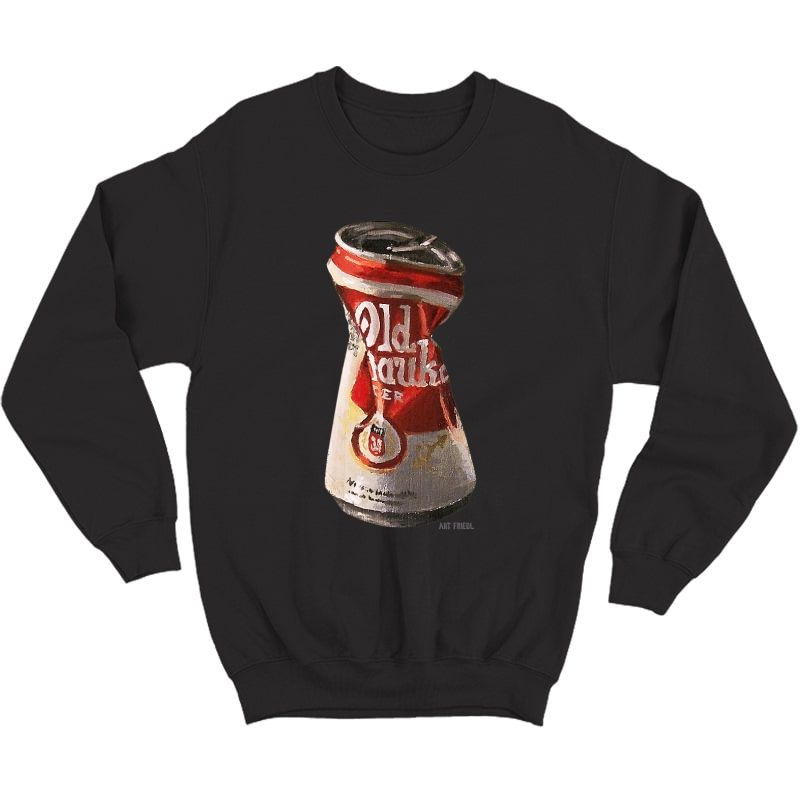 Old Crushed Beer Can Milwaukee T-shirt Crewneck Sweater