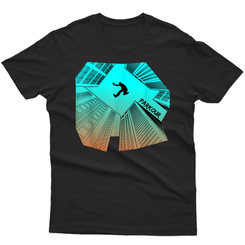 Parkour City Ninja Free Running T Shirt Tee Gift