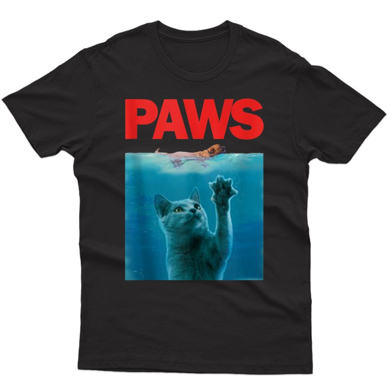 Paws Kitten Meow Parody Funny Cat Lover Tank Top Shirts