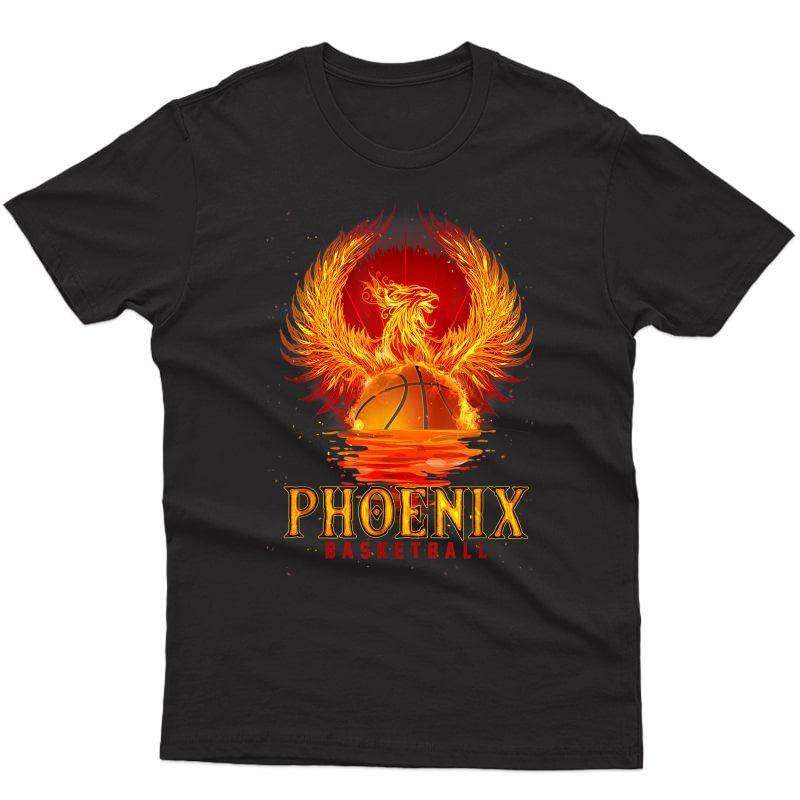 Pixel Sun Rise Phoenix Arizona Basketball Fan T-shirt