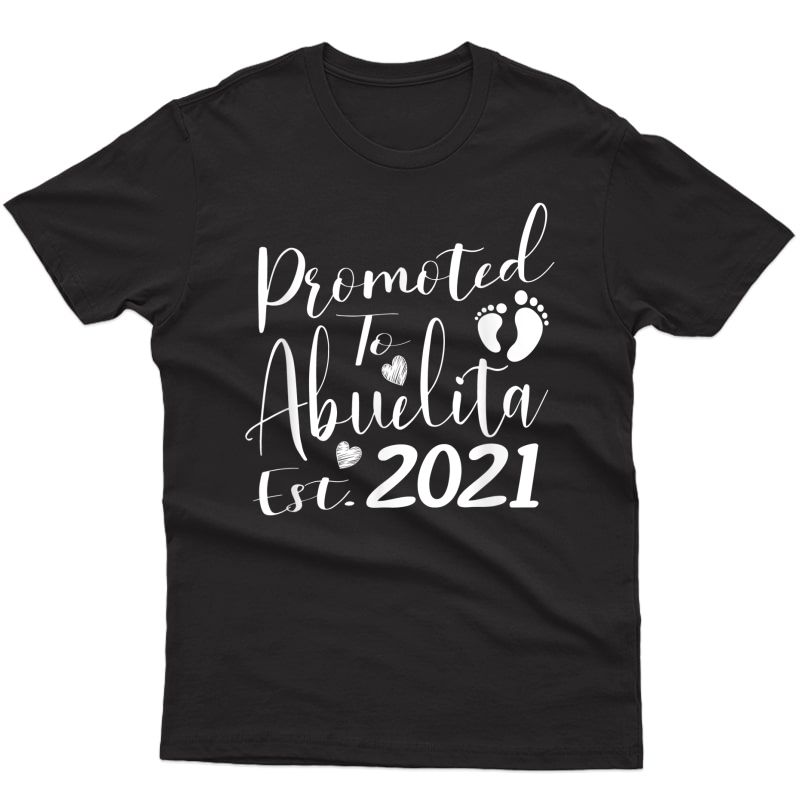 Promoted To Abuelita Grandma 2021 New 1st Time Gift T-shirt