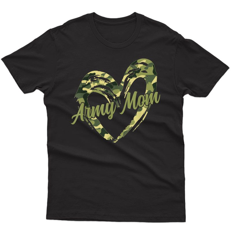 Proud Army Mom Shirt Military Mother Camouflage Apparel T-shirt