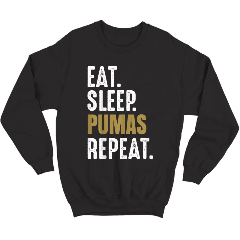 Pumas Soccer T-shirt Eat Sleep Repeat Soccer Football Mexico Crewneck Sweater