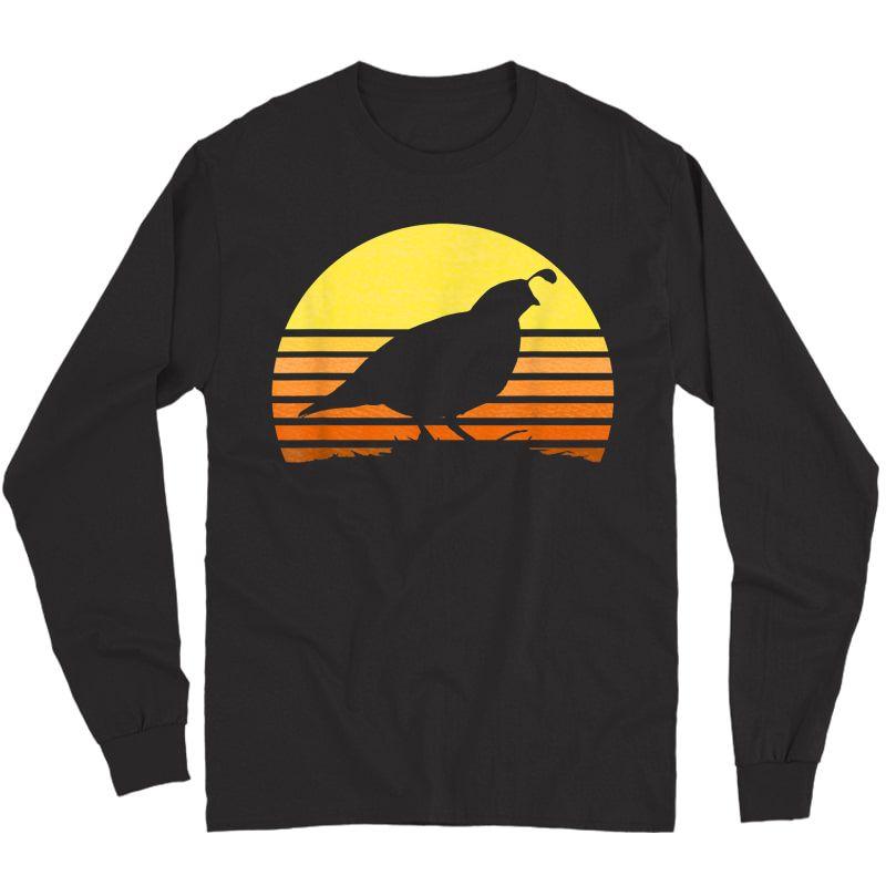 Quail Hunting Upland Bird Game Hunter Shooting Sports Gift T-shirt Long Sleeve T-shirt
