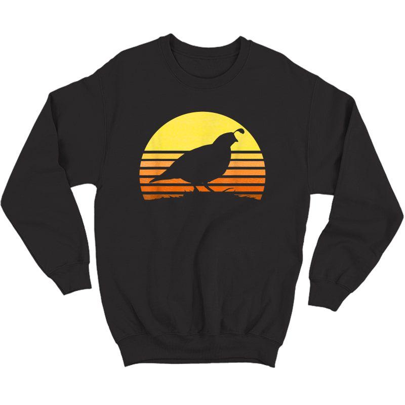 Quail Hunting Upland Bird Game Hunter Shooting Sports Gift T-shirt Crewneck Sweater