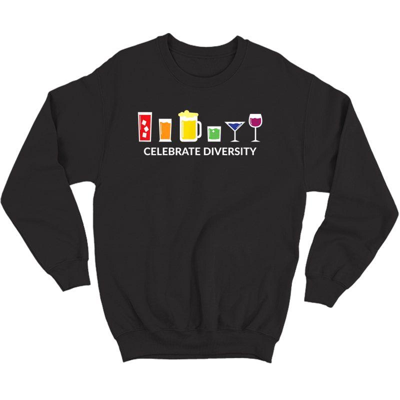 Rainbow Lgbt Drinking Celebrate Diversity Beer Shirt Crewneck Sweater