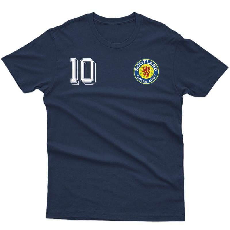 Retro Scotland Soccer Crest Tartan Army Scottish Lion T-shirt