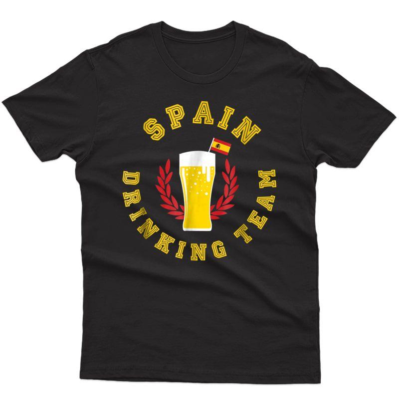 Spain Team Drinking Shirt Beer Tee