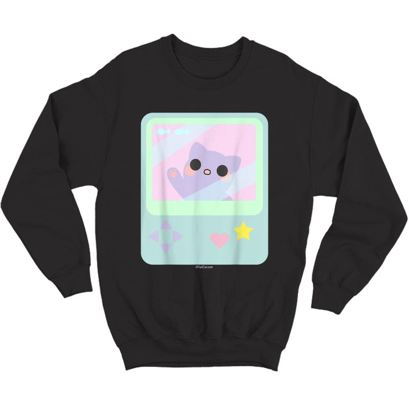 Super Kawaii Gamer Cat Kitty Pastel Anime Inspired T-shirt Crewneck Sweater