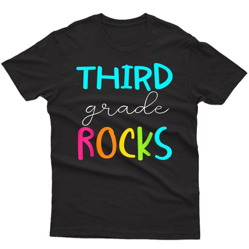 Third Grade Rocks Shirt Team 3rd Grade Tea T-shirt
