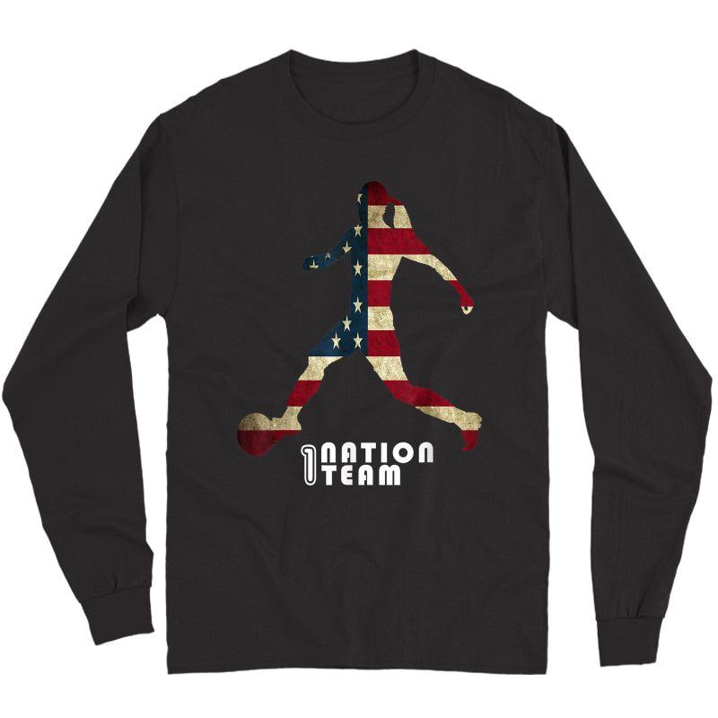 Us. Soccer Team Player Fan T-shirt Long Sleeve T-shirt