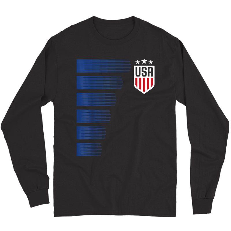 Usa T-shirt | Cool Usa Soccer T-shirt S  Long Sleeve T-shirt