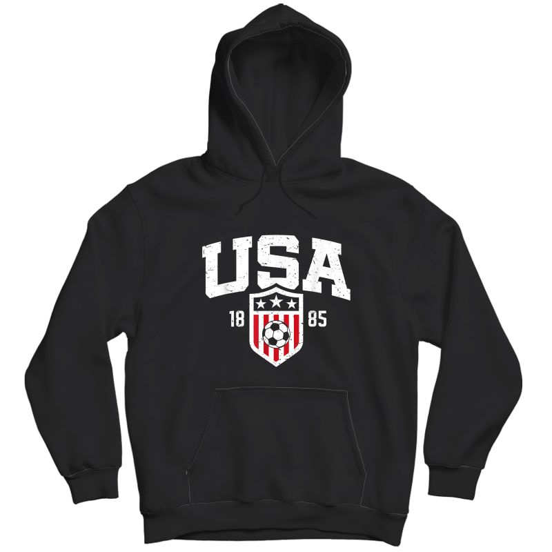 Usa T-shirt   Vintage Usa Soccer T-shirt S  Unisex Pullover Hoodie