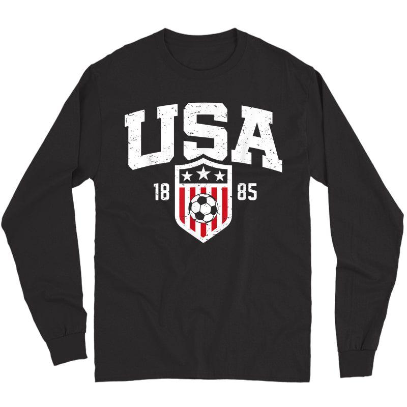 Usa T-shirt   Vintage Usa Soccer T-shirt S  Long Sleeve T-shirt