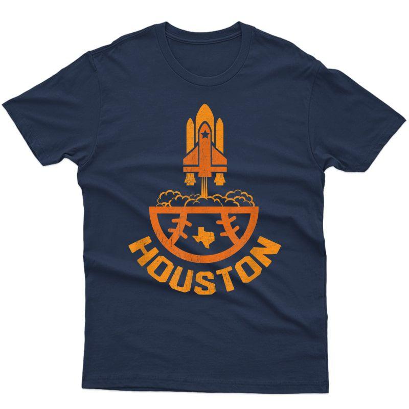 Vintage Houston Baseball Launch Site Texas T-shirt