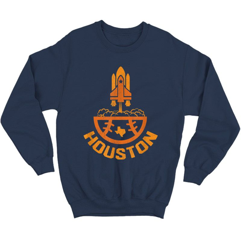 Vintage Houston Baseball Launch Site Texas T-shirt Crewneck Sweater