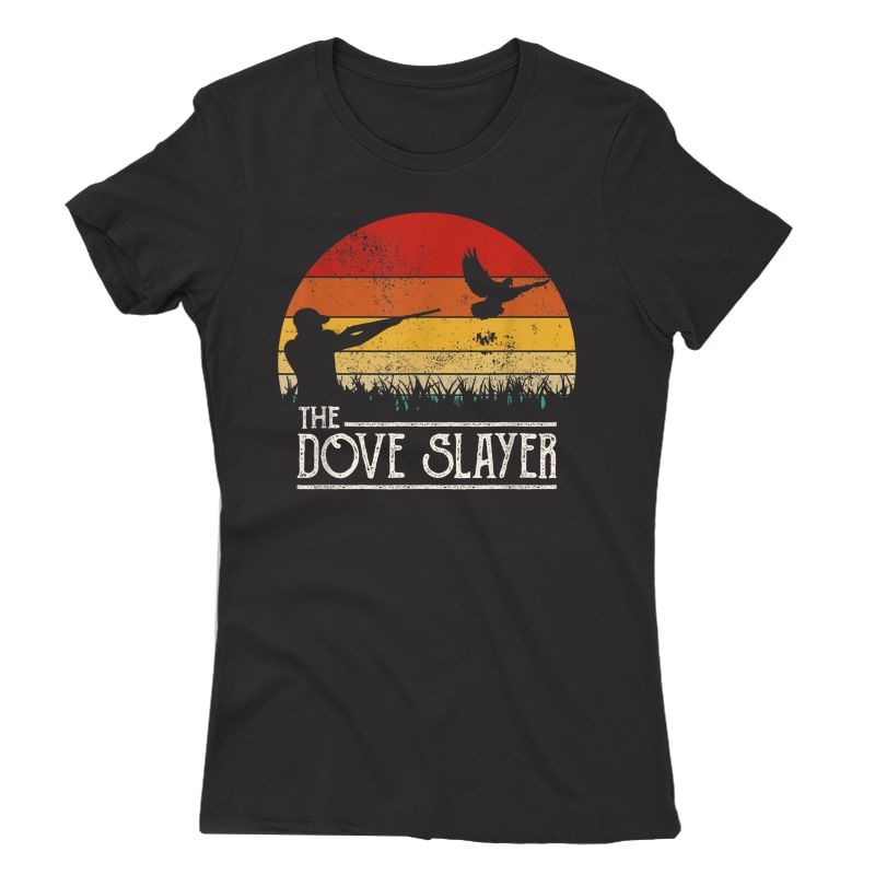 Vintage Sunset Retro Style Dove Hunting Dove Slayer T-shirt