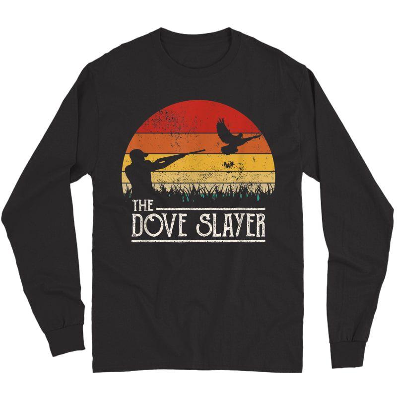 Vintage Sunset Retro Style Dove Hunting Dove Slayer T-shirt Long Sleeve T-shirt