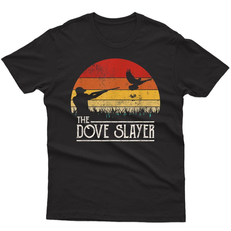 Vintage Sunset Retro Style Dove Hunting Dove Slayer T-shirt