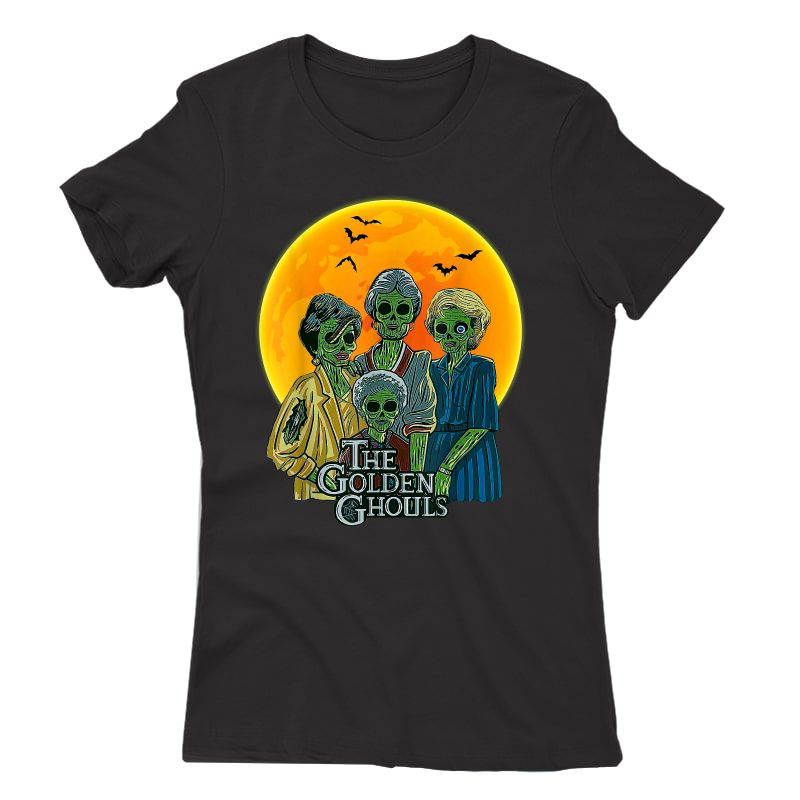 Vintage The Golden Ghouls Custom Gift For Halloween T-shirt