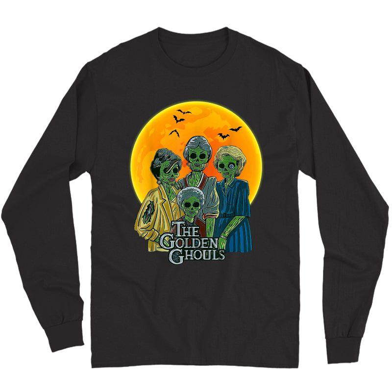 Vintage The Golden Ghouls Custom Gift For Halloween T-shirt Long Sleeve T-shirt