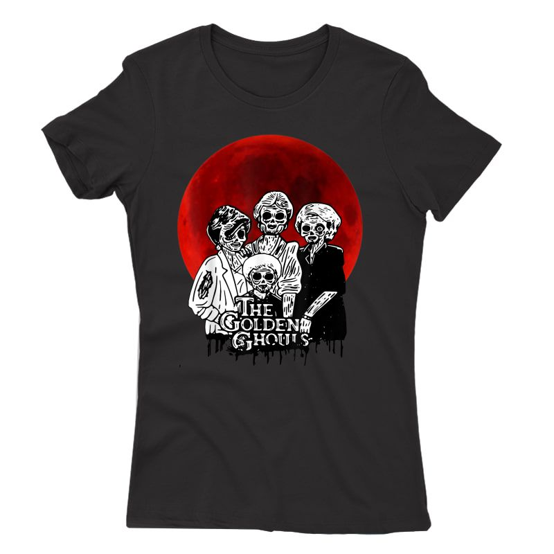 Vintage The-golden-ghouls-sunset Halloween Tee T-shirt