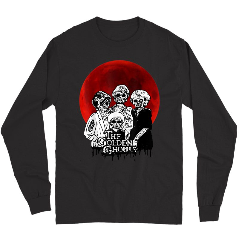 Vintage The-golden-ghouls-sunset Halloween Tee T-shirt Long Sleeve T-shirt