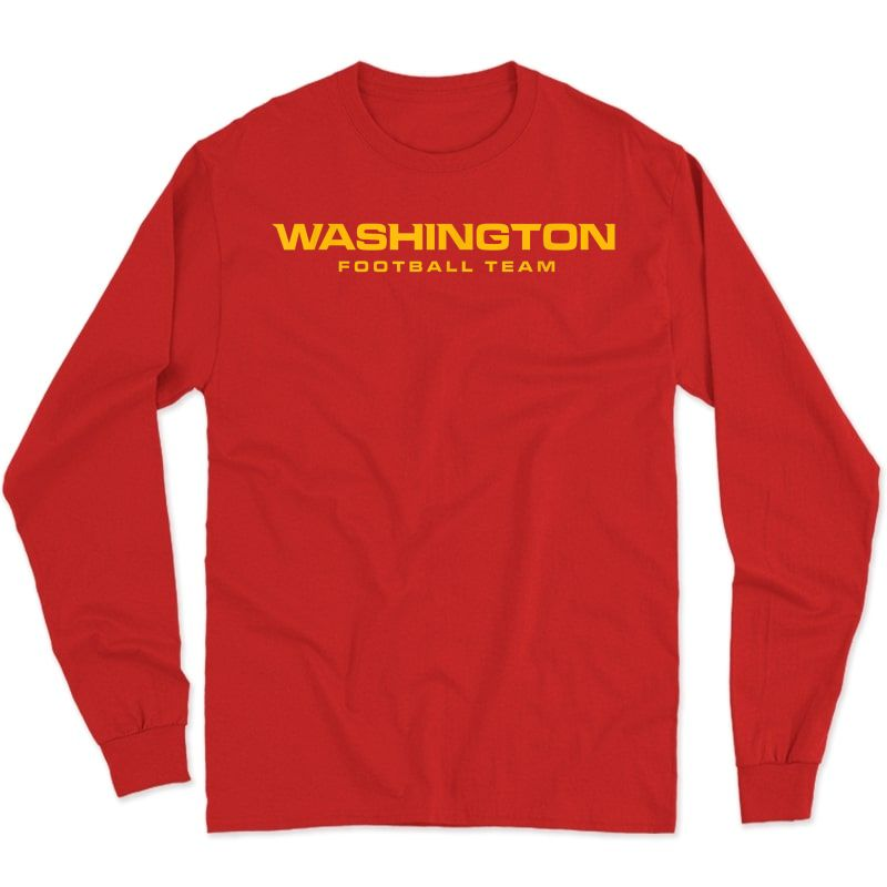 Washington Football Dc Sports Team Novelty T-shirt Long Sleeve T-shirt