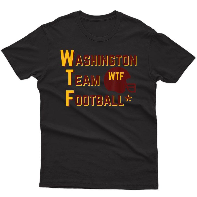 Washington Team Football Wtf Helmet Logo For And T-shirt